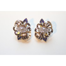 double fleur de lis earrings