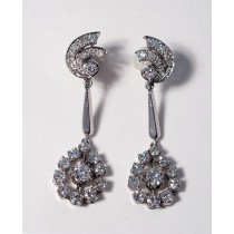 Rotterdam chic diamond dangling earrings