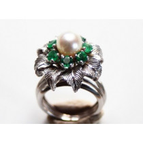 retro cocktail ring fleur